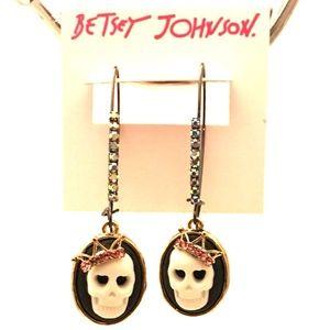 BETSEY JOHNSON Skull Drop Earrings